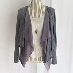 The Limited Double Waterfall Open Knit Cardigan